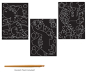 Picture of Krafty Kids Kit: DIY Scratch Art 3 Asst Sheets w/Scratch Tool - Dino Pals