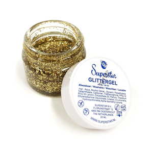 Picture of Superstar Glitter Gel - Gold (20ml)