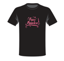 Picture of Face Painter - Apparel Shirt - Pink Glitter - XL