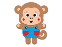 Picture of Krafty Kids Kit: DIY Foam Friends Craft Kit - Monkey (CK192-P)