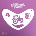 Picture of Art Factory Boomerang Stencil - Tractor (B015)