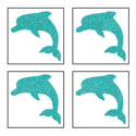 Picture of Mini 4 in 1 Dolphin Glitter Tattoo Stencil - HP (5pc pack)