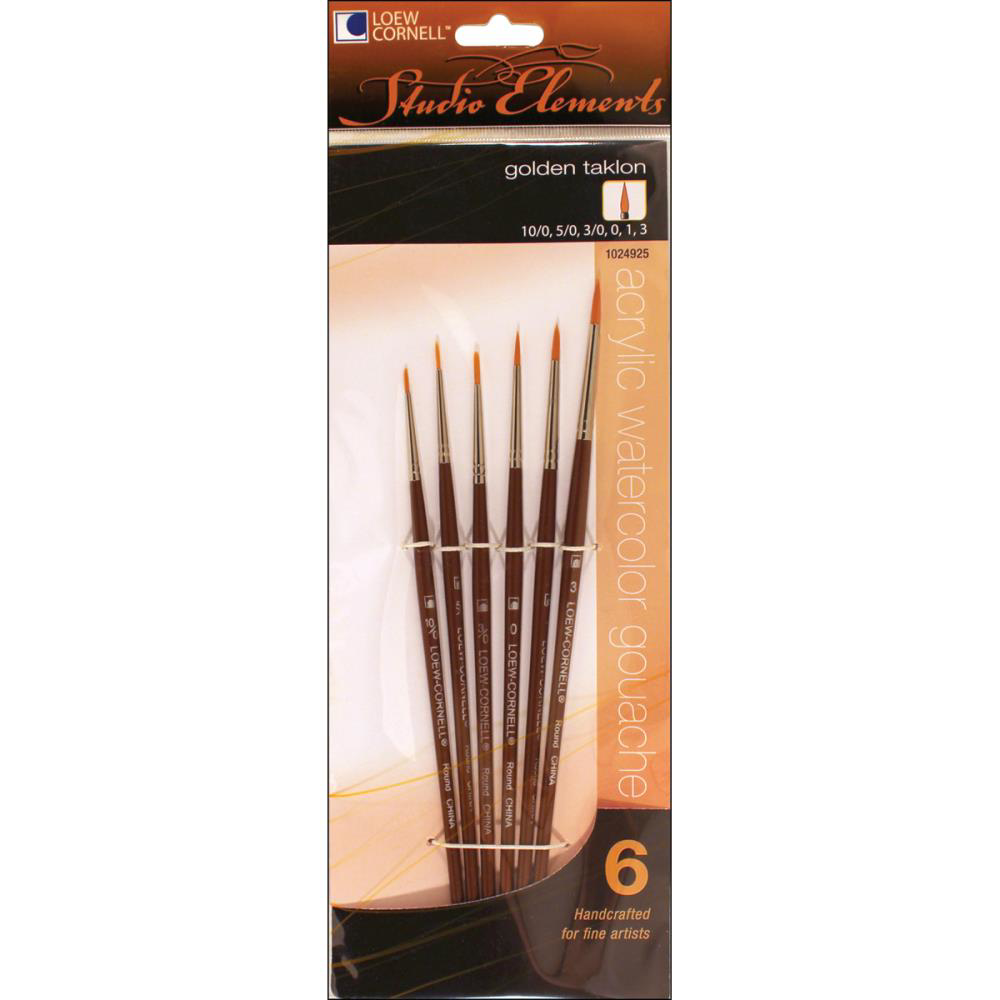Picture of Loew Cornell - Studio Elements Golden Taklon Brush Set 1024925 (6pc)
