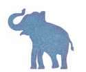 Picture of Elephant Glitter Tattoo Stencil - HP (5pc pack)