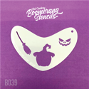 Picture of Art Factory Boomerang Stencil - Spooky Pumpkin (B039)