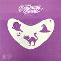 Picture of Art Factory Boomerang Stencil - Halloween Cat, Ghost & Witches Hat (B037)