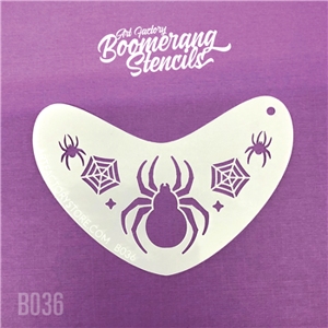 Picture of Art Factory Boomerang Stencil - Spider Crown (B036)