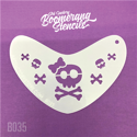 Picture of Art Factory Boomerang Stencil - Sugar Skull and Cross Bones (B035)