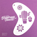 Picture of Art Factory Boomerang Stencil - Cactus (B027)