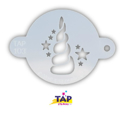 Picture of TAP 103 Face Painting Stencil - Unicorn Horn with Stars