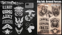 Picture of Tattoo Pro Stencil - BIG INK - Armed Forces (ATPS-BGNK-109)