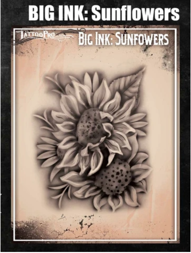 Picture of Tattoo Pro Stencil - BIG INK - Sunflowers (ATPS-BGNK-107)