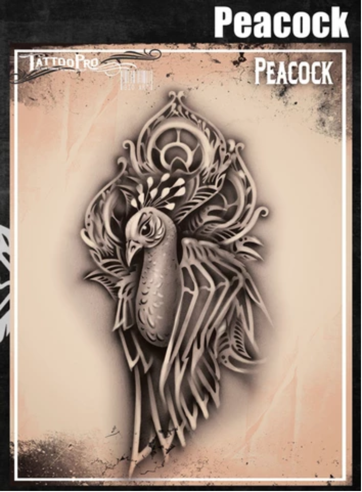 Picture of Tattoo Pro Stencil -  Peacock  (ATPS184)