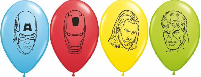 "Picture of 5"" Avengers Faces Assortment   - Qualatex Balloon (100/bag)"
