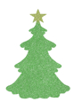 Picture of Christmas Tree Glitter Tattoo Stencil - HP (5pc pack)
