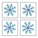 Picture of Mini 4 in 1 Snowflake Glitter Tattoo Stencil - HP (5pc pack)
