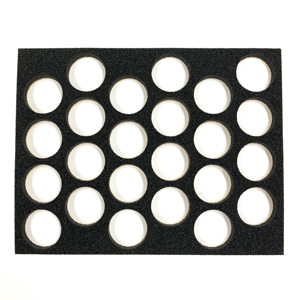 "Picture of Superstar - Foam Insert for Plastic Case - 24 Round Slots (16g) (9.65""x12.2"")"