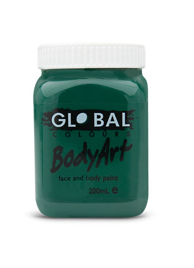 Picture of Global  - Liquid Face and Body Paint  - Dark Green (Deep) - 200ml