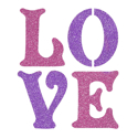 Picture of Love Glitter Tattoo Stencil - HP (5pc pack)