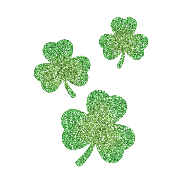 Picture of Cascading Three-Leaf Clovers Glitter Tattoo Stencil - HP-42 (5pc pack)