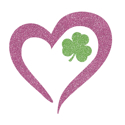 Picture of Heart Shamrock Glitter Tattoo Stencil - HP (5pc pack)