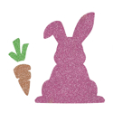 Picture of Easter Bunny with Carrot Glitter Tattoo Stencil - HP (5pc pack)
