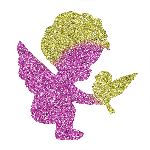 Picture of Cupid and Dove Glitter Tattoo Stencil - HP-90 (5pc pack)