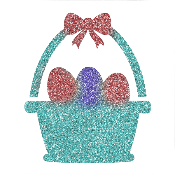 Picture of Easter Basket Glitter Tattoo Stencil - HP-91 (5pc pack)