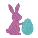 Picture of Easter Bunny with Egg Glitter Tattoo Stencil - HP (5pc pack)