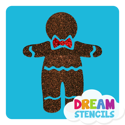 Picture of Gingerbread Man Glitter Tattoo Stencil - HP-113 (5pc pack)
