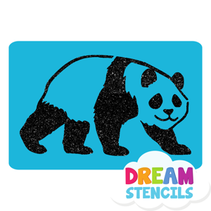Picture of Panda Glitter Tattoo Stencil - HP-115 (5pc pack)