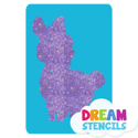 Picture of Baby Llama Glitter Tattoo Stencil - HP (5pc pack)