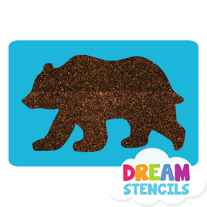 Picture of Grizzly Bear Glitter Tattoo Stencil - HP-11 (5pc pack)