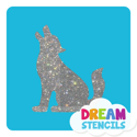 Picture of Wolf Glitter Tattoo Stencil - HP-16 (5pc pack)