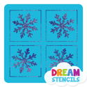 Picture of Mini 4 in 1 Snowflake Glitter Tattoo Stencil - HP-20 (5pc pack)