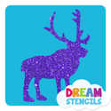 Picture of Reindeer Glitter Tattoo Stencil - HP (5pc pack)