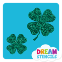Picture of Two Lucky Four-Leaf Clovers Glitter Tattoo Stencil - HP (5pc pack)