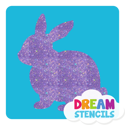 Picture of Bunny Glitter Tattoo Stencil - HP-86 (5pc pack)