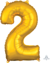 Picture of 26'' Mid-Size Shape Number 2 - Gold (1pc)