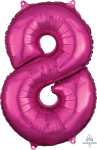 Picture of 26'' Mid-Size Shape Number 8 - Pink (1pc)