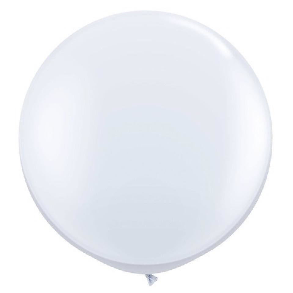 Picture of Qualatex 3FT Round - White Balloon (2/bag)