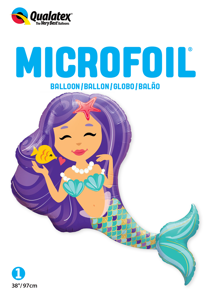 "Picture of 38"" Enchanting Mermaid Foil Balloon (1pc)"