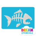 Picture of Fish Skeleton Glitter Tattoo Stencil - HP (5pc pack)