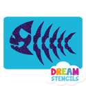Picture of Fish Bones Glitter Tattoo Stencil - HP (5pc pack)