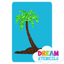 Picture of Single Palm Tree Glitter Tattoo Stencil - HP-150 (5pc pack)