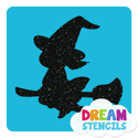 Picture of Little Witch  Glitter Tattoo Stencil - HP-188 (5pc pack)