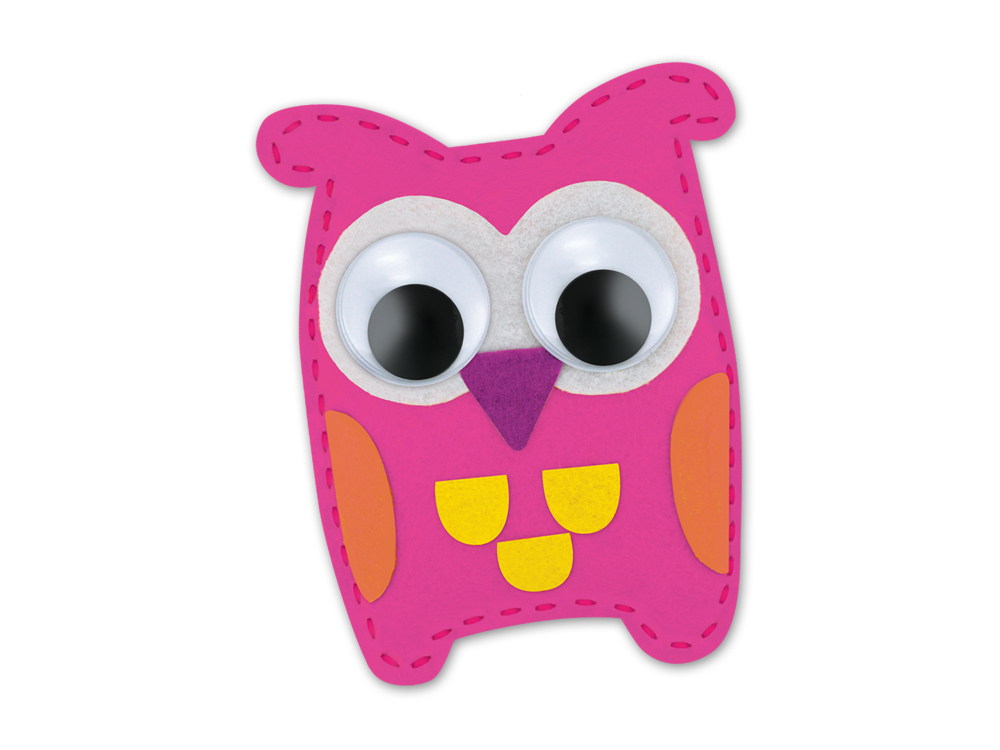 Picture of Krafty Kids Kit: DIY Felt Friends Sewing Kit - Owl (CK191E)