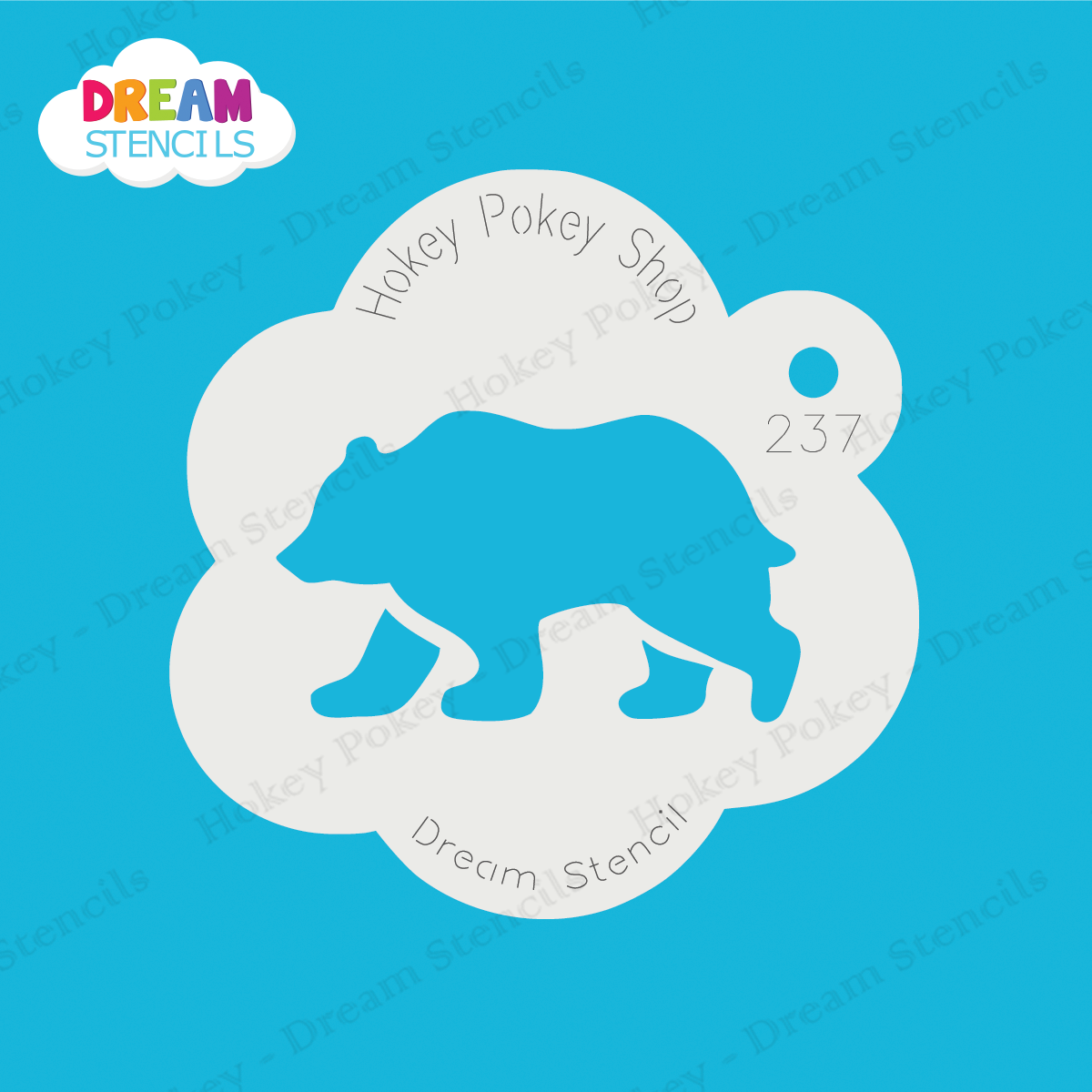 Picture of Grizzly Bear - Dream Stencil - 237