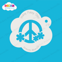 Picture of Flower Round Peace Sign - Dream Stencil - 25