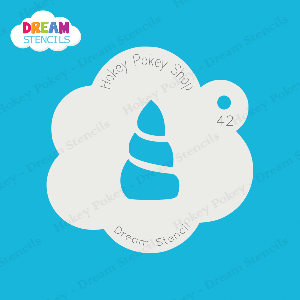 Picture of Baby Unicorn Horn - Dream Stencil - 42
